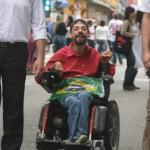 Manifestante deficiente em São José dos Campos