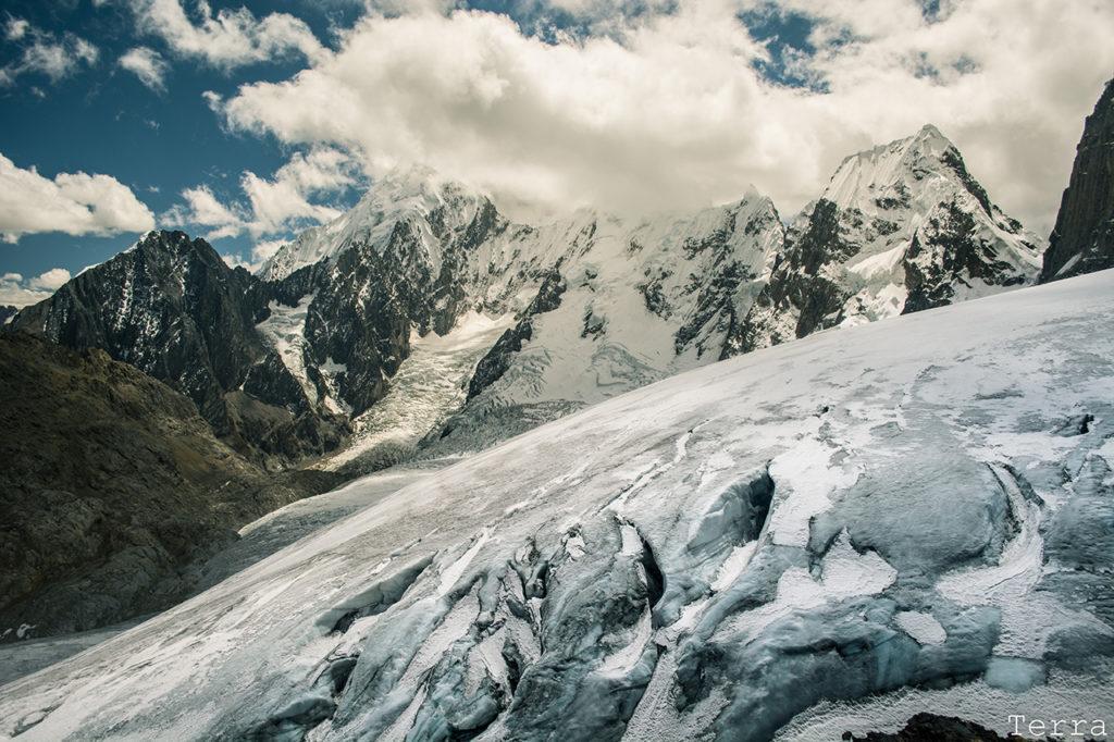 Glaciar avistado do Paso Trapezio, a 5150m de altitude.